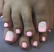 Pink Toe Nail Art Velvet Sand Technic Nehty Pedikúra Nehty A