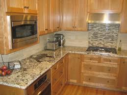 kitchen backsplash with oak cabinets lovely kitchen tile backsplash ideas with oak cabinets
