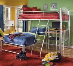 Conner Twin Twin Metal Bunk Bed w Desk