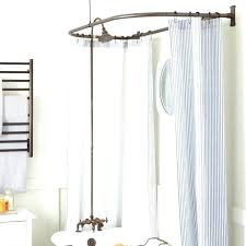 double curved shower curtain rod oil rubbed bronze bathrooms tension