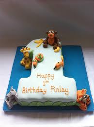 Boys 1st Birthday Cake Jungle Animals Tracy Yapp Flickr