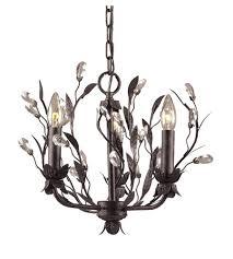 elk 8058 3 circeo 3 light 16 inch deep rust chandelier ceiling light in standard