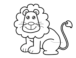 Small Picture Lion Animal Coloring Pages Funny Baby Simba Lion Page For Kids