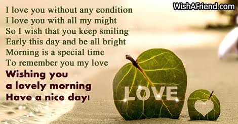 love message for girlfriend in the morning