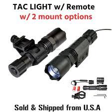 Strobe Light Flashlight Details About Tac Light Flashlight Led 260 Lumen Waterproof W Remote Hi Low Strobe Beam Rail