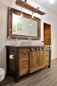 reclaimed wood bathroom vanity cabinet. reclaimed wood bathroom vanity with metal details and the same mirror cabinet c