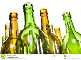 Empty Glass Wine Bottles