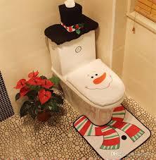 creative santa toilet seat cover toilet sets toilet clothes decorations bath mat holder closestool lid cover designer decorations