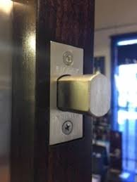 security door latches. Deadbolts Provide Far More Security Than Standard Latch Mechanisms. Connect The Door To Frame With A Moving Bolt That \u201cdeadlocks\u201d Into Latches