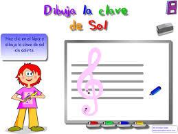 Resultado de imagen de aprendo musica, dibuja la clave de sol