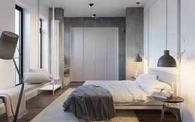 bedroom minimalist. Olia Paliychuk White Minimalist Bedroom