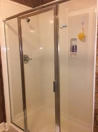 phoenix west master shower with two shower heads not as clean as it should