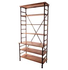 Industrial Computer Cabinet Pipe Works Reclaimed Wood Industrial Pipe Tall Bookcase Kathy
