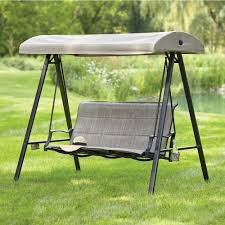 statesville 3 person padded sling outdoor swing with canopy