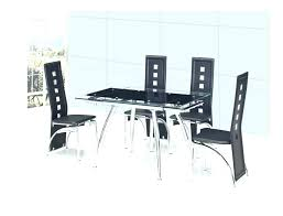 extending glass dining table sets small black kitchen gloss del