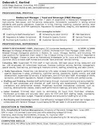 Restaurant Resume Template Restaurant General Manager Resume Summary Restaurant Management 24