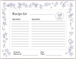 Full Page Recipe Templates Free Homemade Recipe Book Template Printable Pages Binder