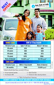 Sbi Car Loan Rate Of Interest Chart Cheapest Home Loan From Sbi October 2012