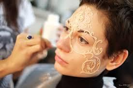 transfer makeup venetian mask