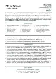 Example Of Finance Resume Related Post Mba Finance Resume Skills ...