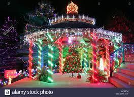 Light Fm Christmas Christmas Light Gazebo Stock Photo 117357400 Alamy