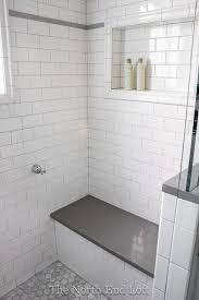 white subway tile patterns. Modren Patterns Great Idea To Add The Extra Hand Held Shower Holder Back By  Bench I Like Placement Of Niche Too The North Eu2026  For Home  Inside White Subway Tile Patterns T