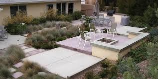 Concrete Backyard Landscaping Design