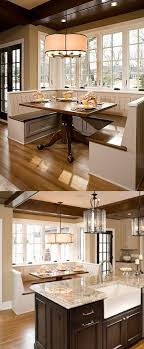 Create a kitchen/dining room design with a Built-In Dining Room Bench and