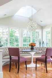 morning room furniture. Morning Room Designs Chairs Table Tufted Bench Big Windows Transitional Style Hanging Lamp Ceiling Lights Flowers Furniture