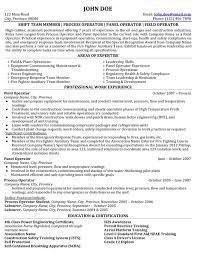Process Operator Resume Resume