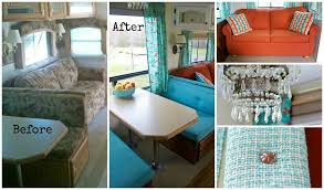 FIVE FIFTH WHEEL REMODELS YOU DON'T WANT TO MISS Go RVing Impressive Living Room Turquoise Remodelling