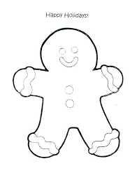 Gingerbread Man Coloring Sheet Gyerekpalotainfo