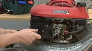 murray lawn mower carburetor. remove the fuel line from carburetor murray lawn mower