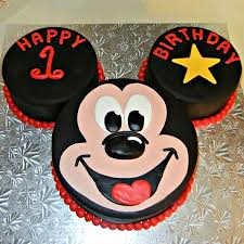 Mic008 Mickey Mouse Fondant Cake Mickey Mouse Cake Cake
