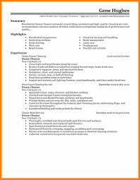 8+ house cleaning resume