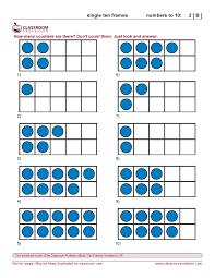 Worksheets ten frames