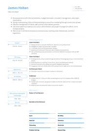 Architectural Intern Resume Samples Templates Visualcv