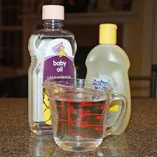 diy eye makeup remover baby oil tear free baby shoo and water just tried this and i m converted it removed waterproof mascara and its soooo much