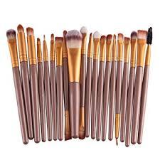 bestim incuk 20 piece makeup brushes makeup brush set cosmetics foundation blending blush eyeliner concealer face powder brush amazon co uk beauty