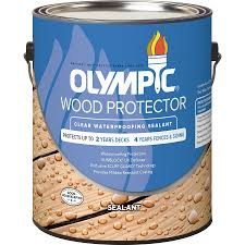 Shop Olympic Wood Protector Clear Exterior Stain Actual Net - Exterior waterproof sealant