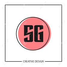 Sg Template Initial Letter Sg Logo Template Design Vector Illustration Royalty