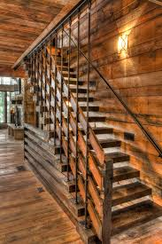 stair-handrail-Staircase-Rustic-with-cabin-cottage-lake-home-lodge-log-house