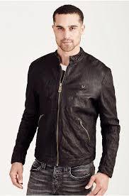 mens true religion jet black cafe racer leather jacket true religion men jackets z57h4264 true religion belt for exclusive
