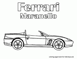 Printable Ferrari Coloring Pages Free Printable Pictures For Kids
