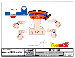 template of a dragon krillin template dragon ball z paper toys