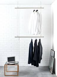 ceiling mounted clothes rod angled wall ceiling mount closet
