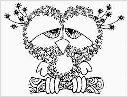 Small Picture Adult Coloring Pages Detailed Printable For Owl Page By Thaneeya adult