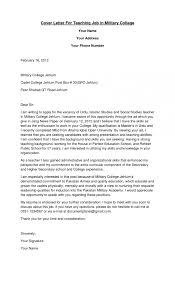 Sample Cover Letter For Professor Position Cover Letter Lecturer