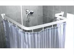 neo angle corner shower curtain rods architecture extraordinary angle shower rod amazing stall and curtain options