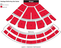 Saratoga Performing Arts Center Seating Chart With Rows Saratoga Performing Arts Seating Chart Best Picture Of